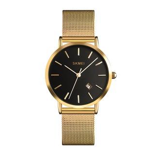 Skmei 1530 Kadın Kol Saati Lüks Gold Tasarım Hasır Kordon Saat