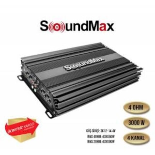 soundmax SX-2000.4AB 4KANALLI 3000 WATT ANFİ