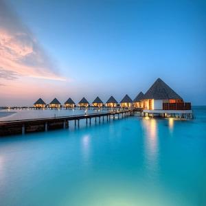 Maldivler 4* Meru İsland  Tam Pansiyon Konaklama