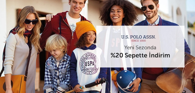 U.S.PoloAssn. Yeni Sezonda %20 Sepette İndirim