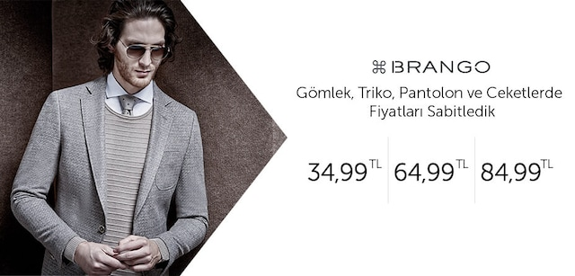 Brango Gömlek, Triko, Pantolon ve Ceketlerde Tek Fiyat