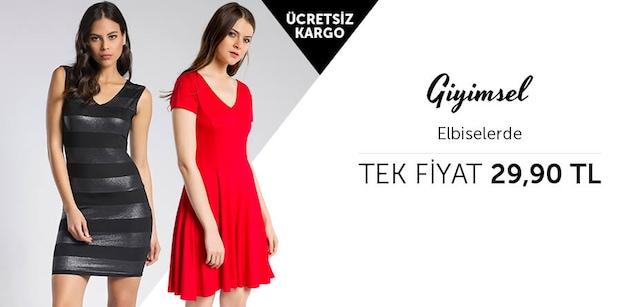 Giyimsel Elbiselerde Tek Fiyat 29,90 TL