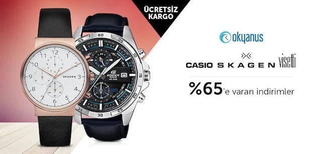 Casio Skagen ve Visetti Marka Saatlerde %65'e Varan İndirimler