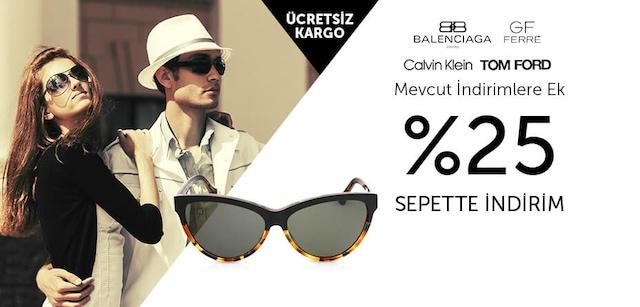 Mobil BaOptik Mağazasında Güneş Gözlüklerinde Mevcut İndirimlere Ek Sepette %25 Anında İndirim