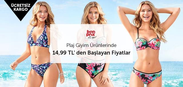 Bonprix Plaj Giyim Ürünlerinde 14,99 TL' den Başlayan Fiyatlar