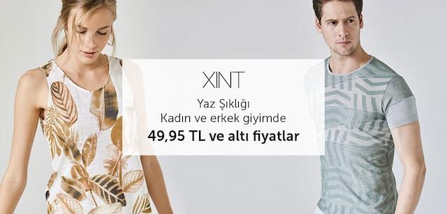 Xint Kadın ve Erkek Giyimde 49,95 TL ve Altı Fiyatlar