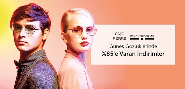 BAOptik'ten Gf Ferre ve Italia Independent Güneş Gözlüklerinde %85'e Varan İndirim