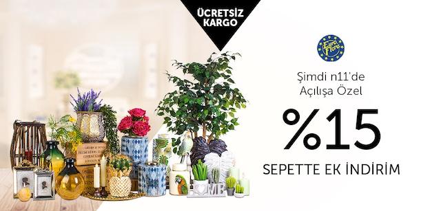 EuroFlora Açılışa Özel %15 Sepette Ek İndirim - n11.com