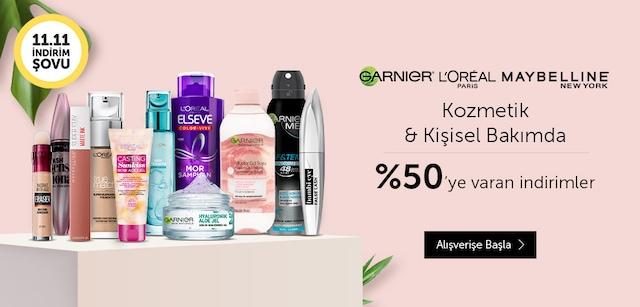 Loreal Paris, Maybelline ve Garnier ürünlerinde %50'ye varan İndirim - n11.com