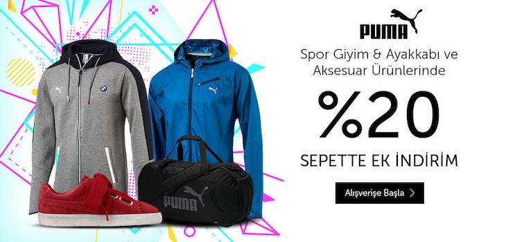Puma %20 Sepette Ek İndirim