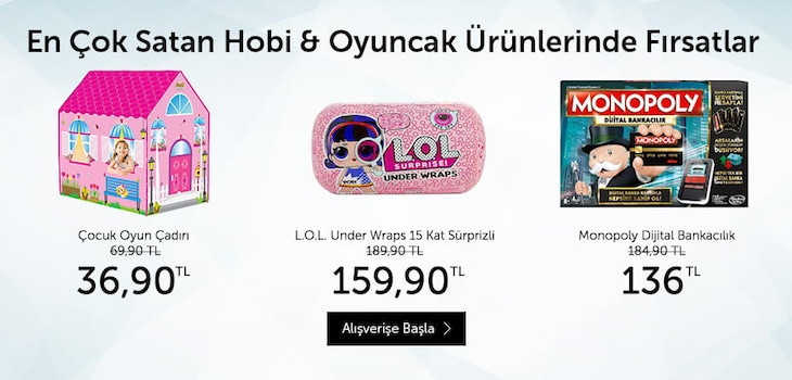 Hobi&Oyuncak Ürünleri