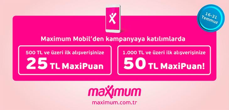 50 TL MaxiPuan Hediye