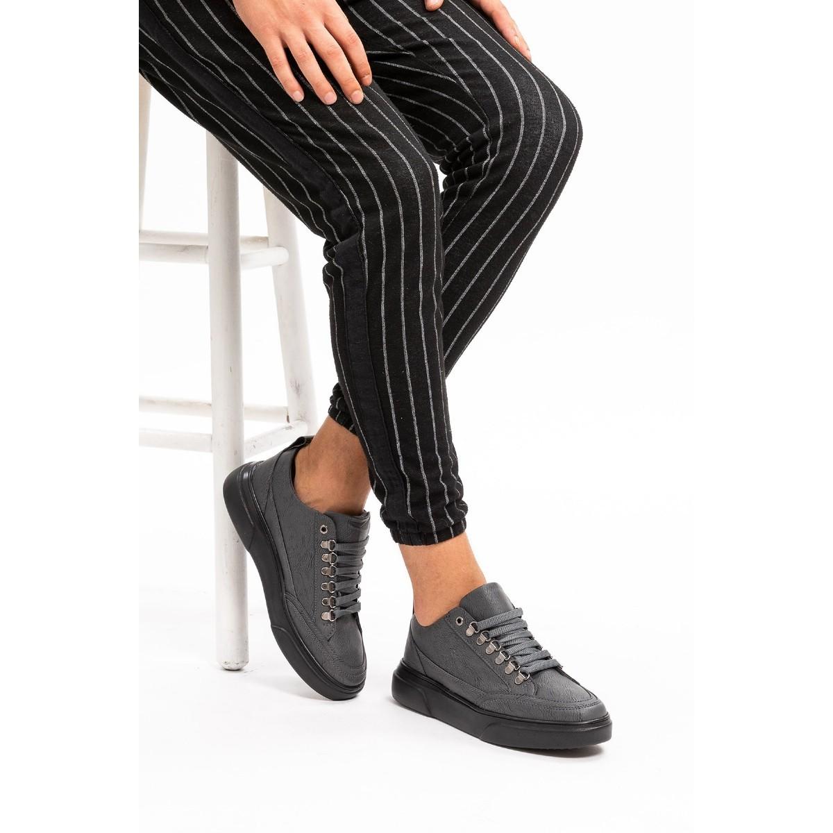 L.A. Polo 104 Füme Renk Siyah Taban Erkek Spor Ayakkabı