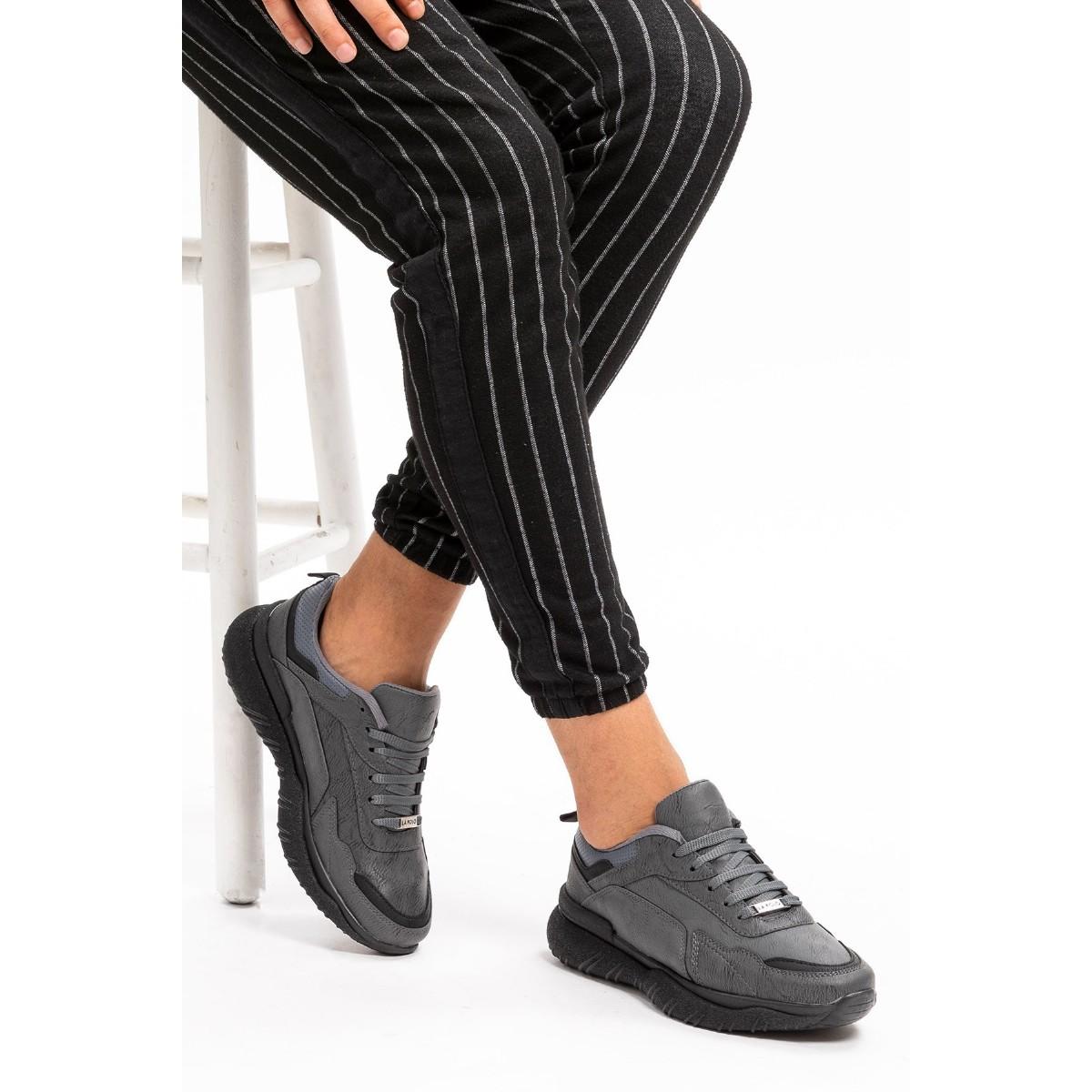L.A. Polo 106 Füme Siyah Erkek Spor Ayakkabı