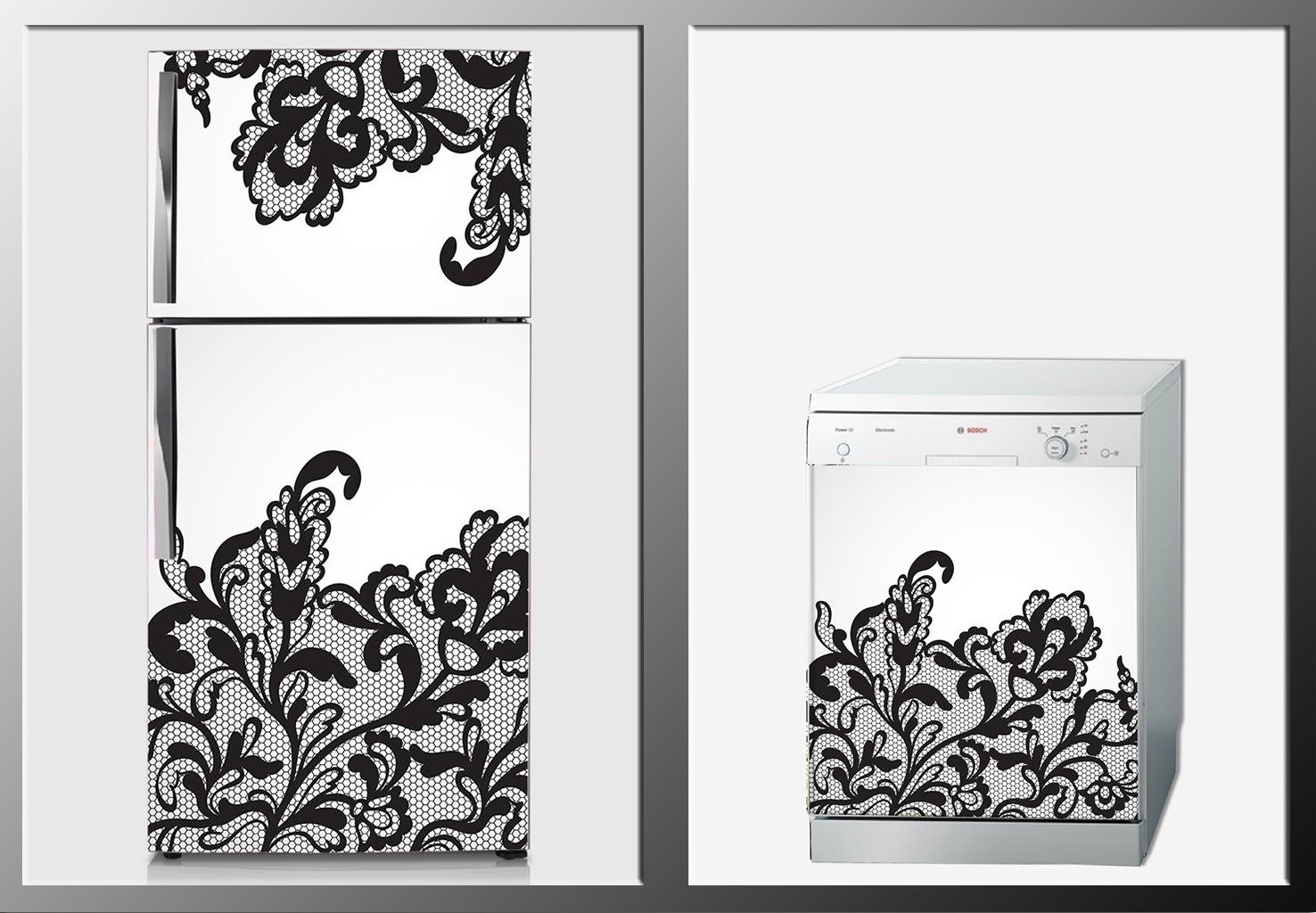 ArtWall Beyaz Eşya Dantel Sticker