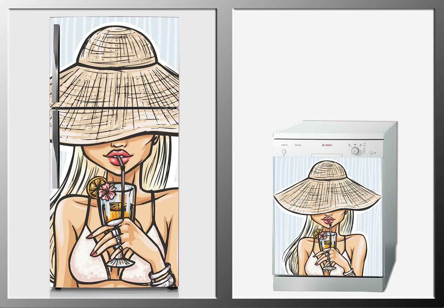 ArtWall Beyaz Eşya İllustrasyon Sticker
