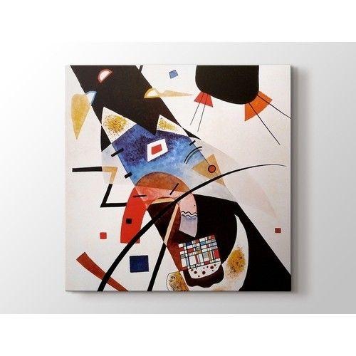 Wassily Kandinsky - Two Black Spots Tablo